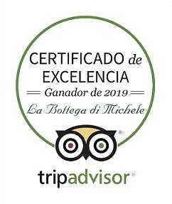 TripAdvisor 2019-Excelencia-La-Bottega-di-Michele